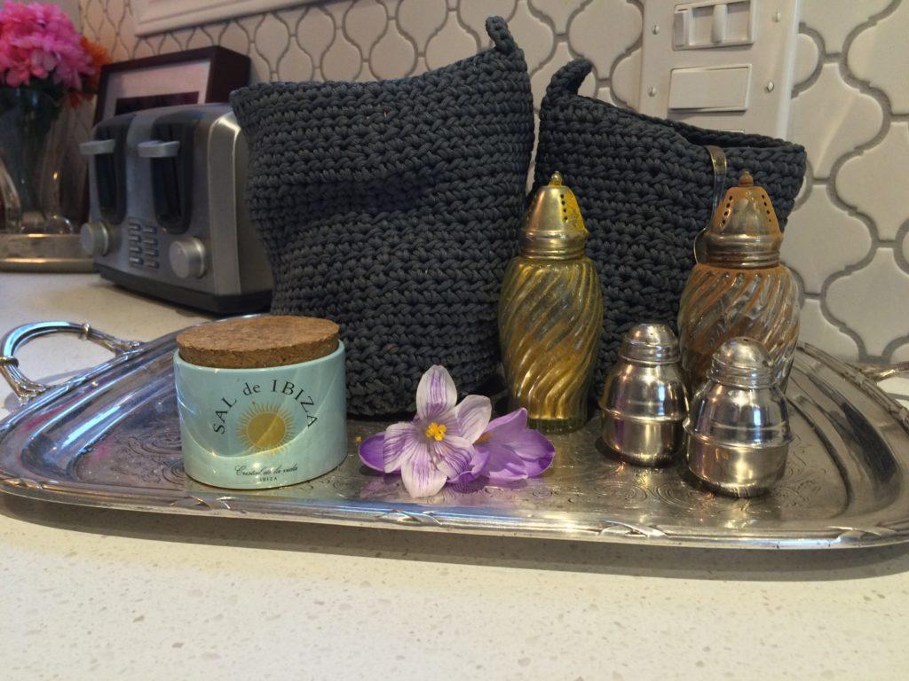 Kitchen Reno - Silver Antique Tray
